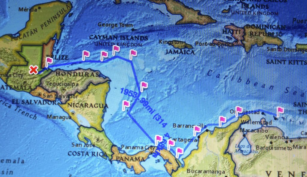 Our 2015 - 2016 sailing track.